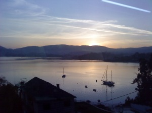 Atardecer en ría de Vigo / Posta de sol / Sunset in Vigo Bay (E.V.Pita 2010)